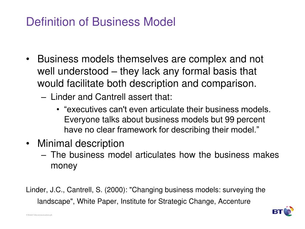 Definition of Business Model