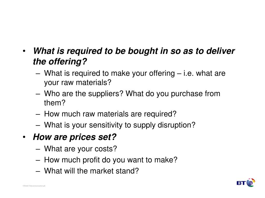 What is required to be bought in so as to deliver the offering?