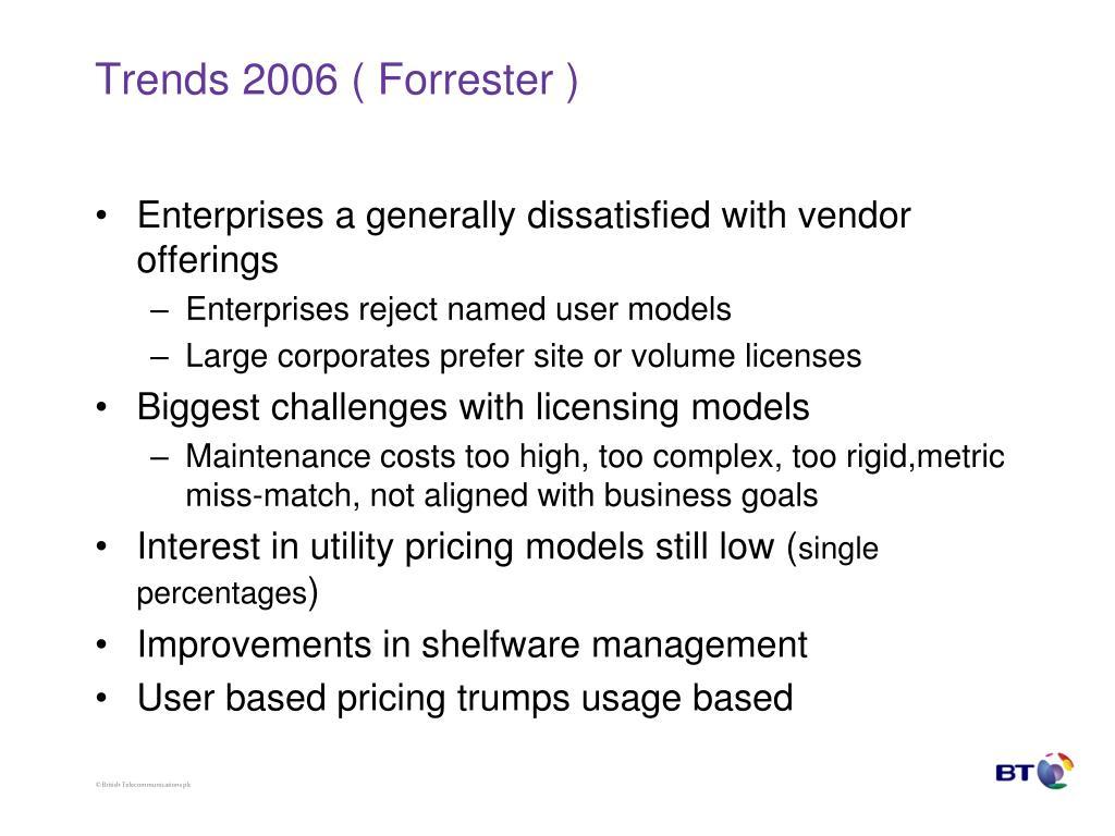 Trends 2006 ( Forrester )
