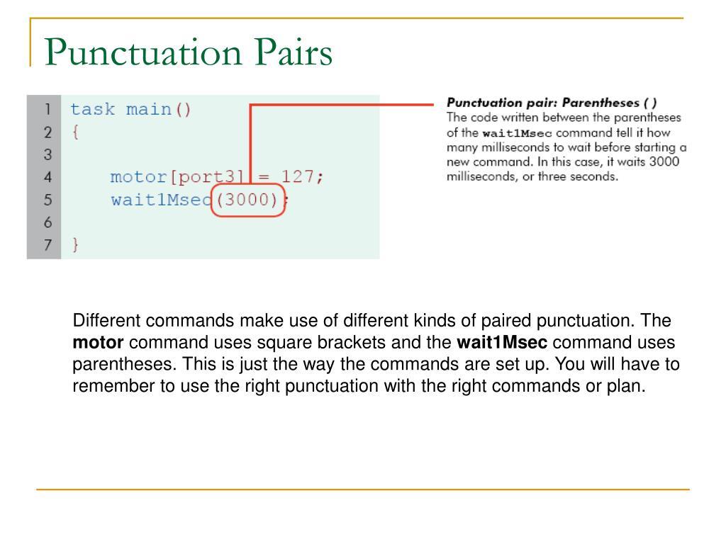 Punctuation Pairs
