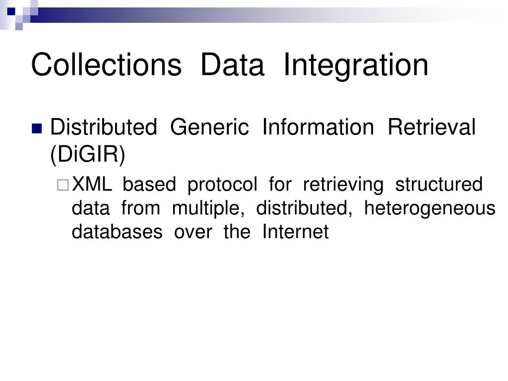 Collections  Data  Integration
