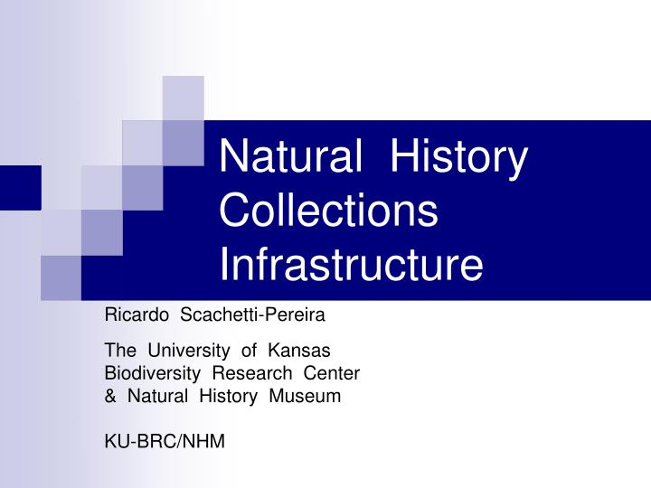 Natural history collections infrastructure l.jpg