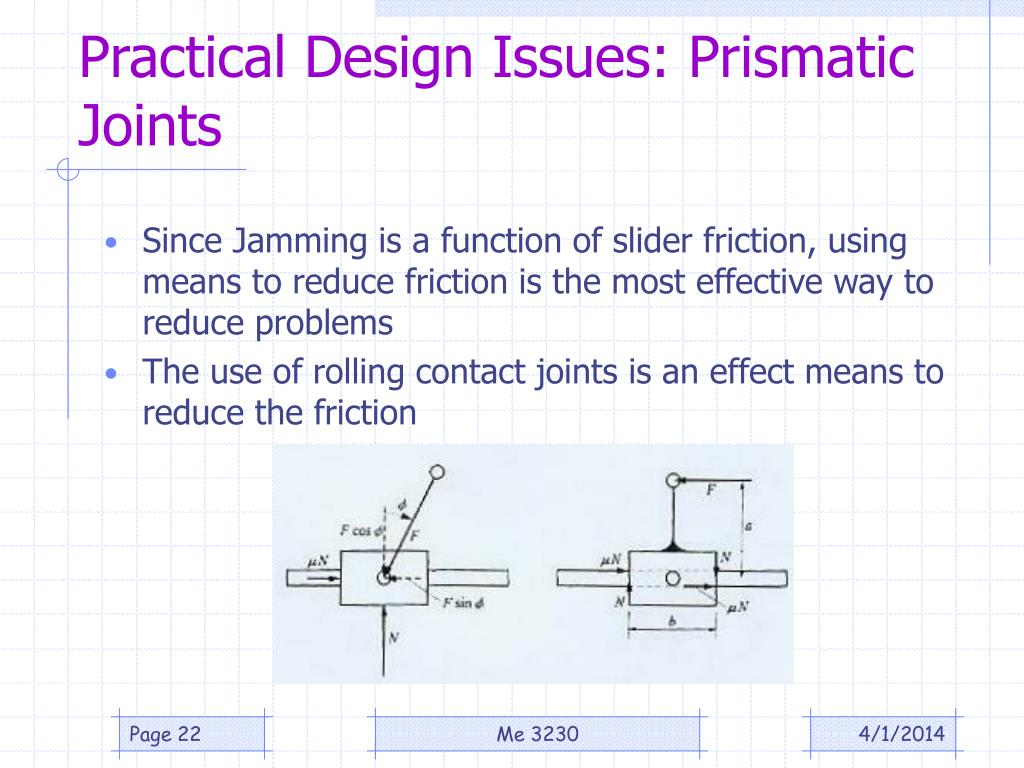 Practical Design Issues: Prismatic Joints
