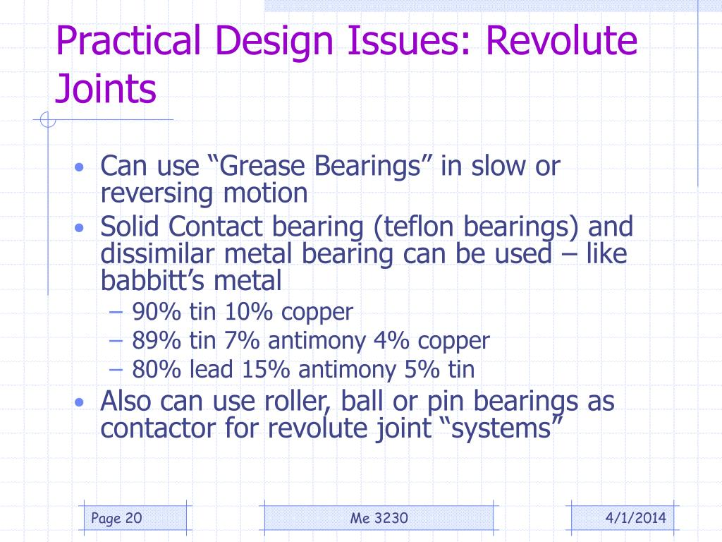 Practical Design Issues: Revolute Joints