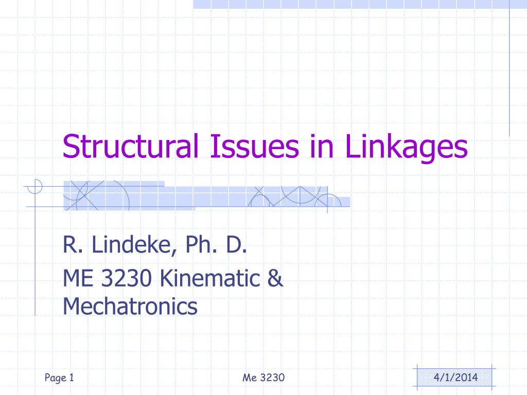 structural issues in linkages