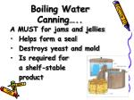 boiling water canning
