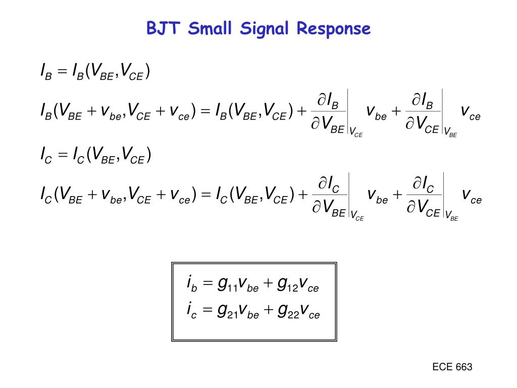 BJT Small Signal Response