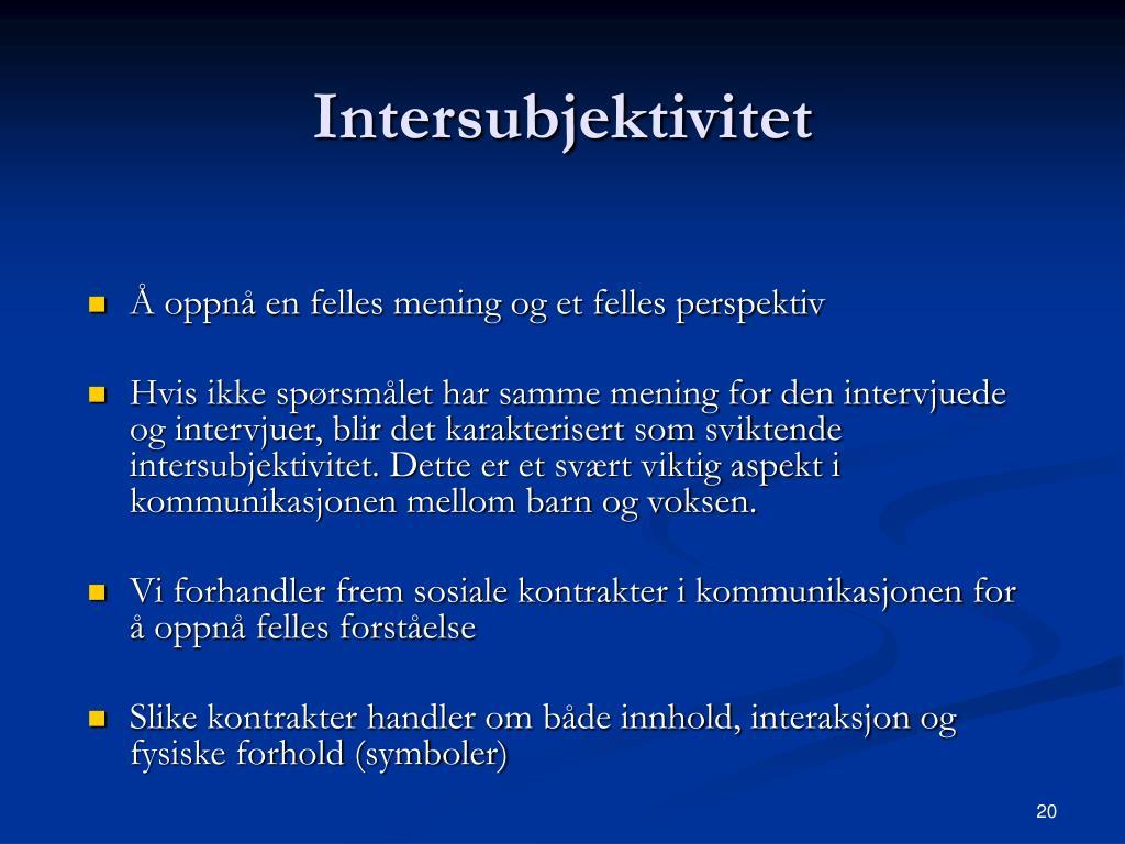 Intersubjektivitet
