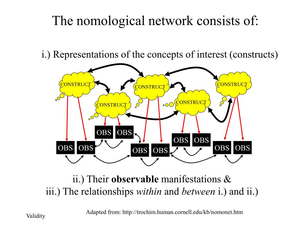 The nomological network consists of: