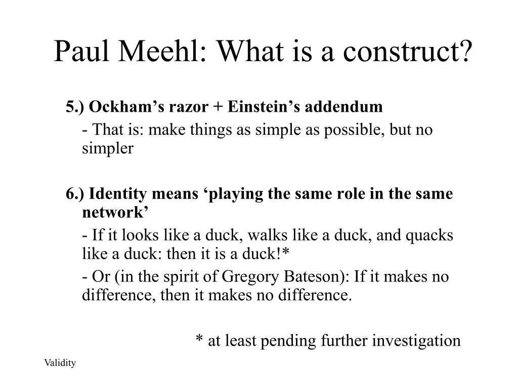 Paul Meehl: What is a construct?
