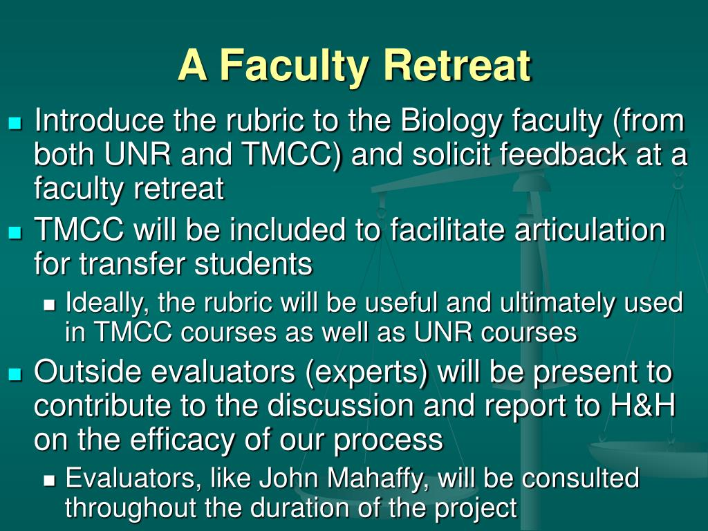 A Faculty Retreat