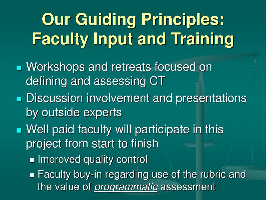 Our Guiding Principles:
