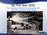 by the year 2030