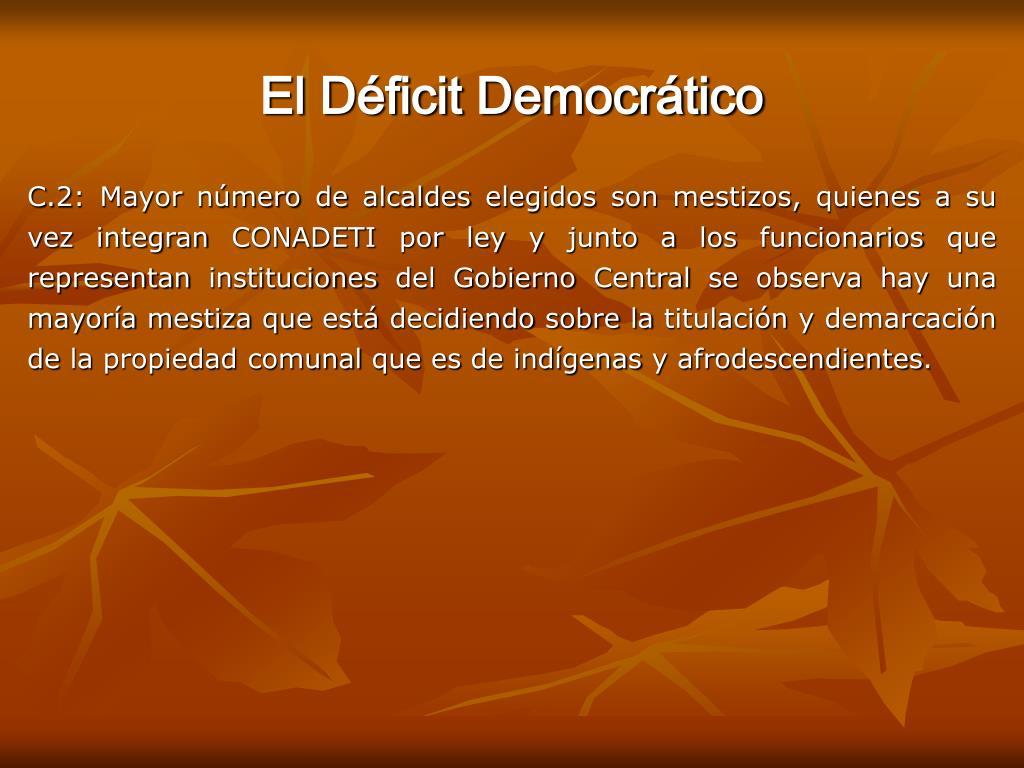 El Déficit Democrático