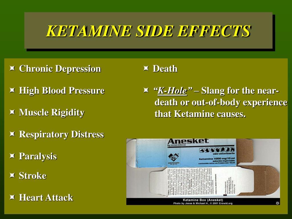 KETAMINE SIDE EFFECTS