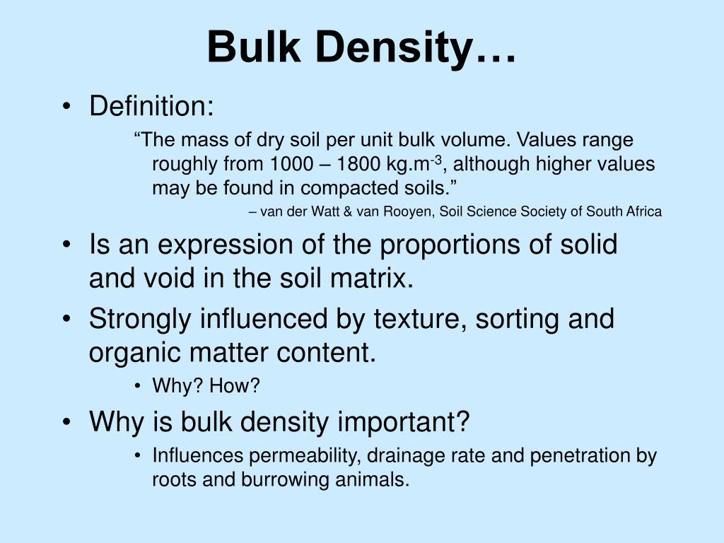 Bulk Density…