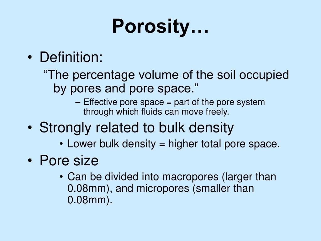 Porosity…
