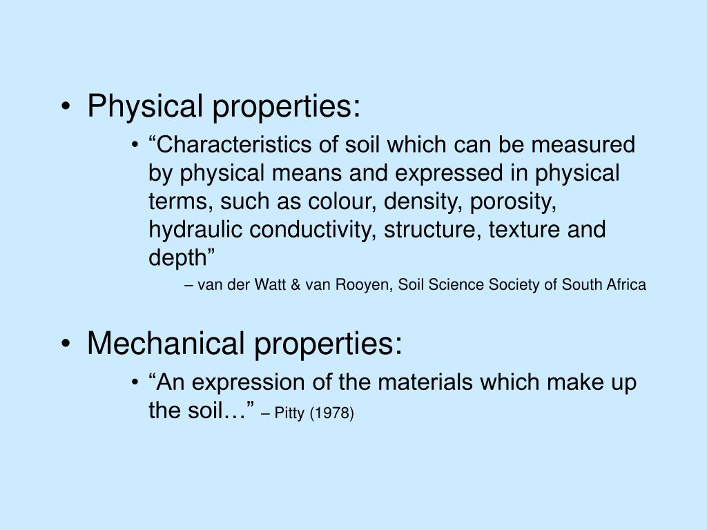Physical properties: