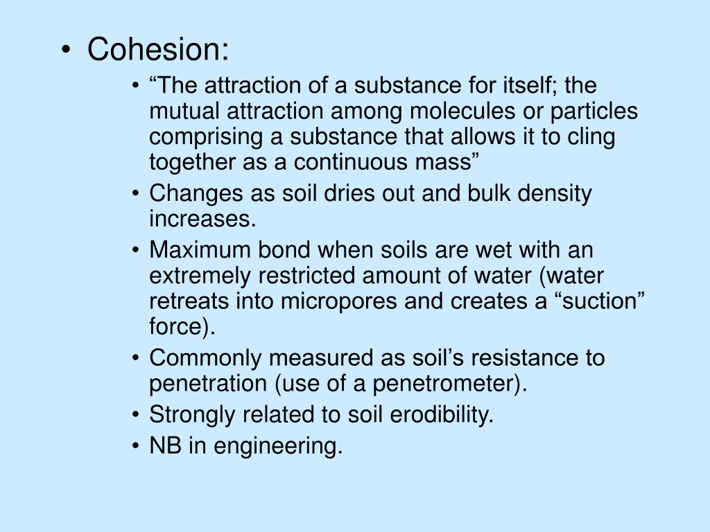 Cohesion: