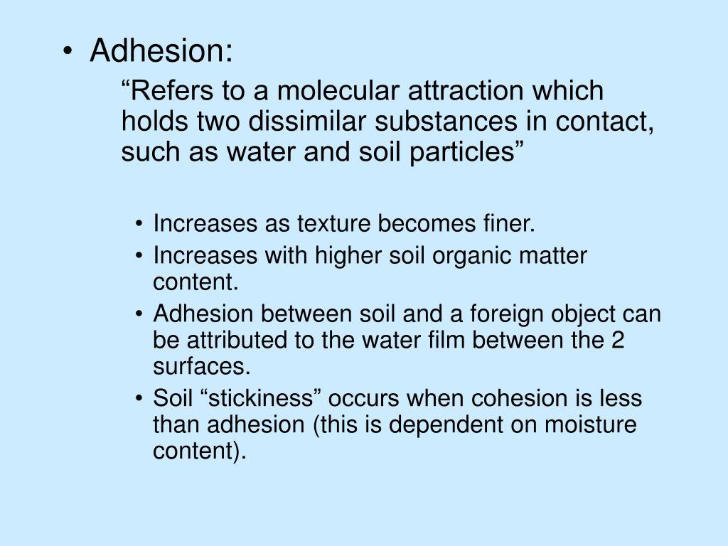 Adhesion: