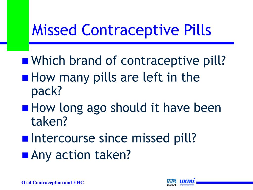 Missed Contraceptive Pills