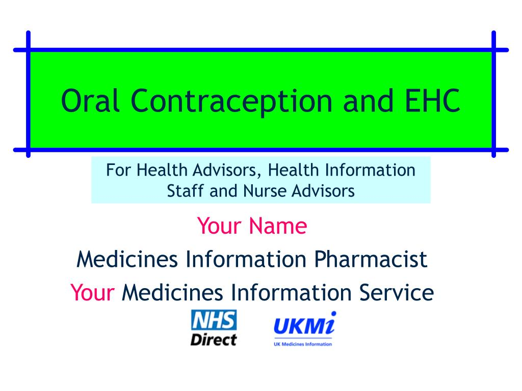 oral contraception and ehc