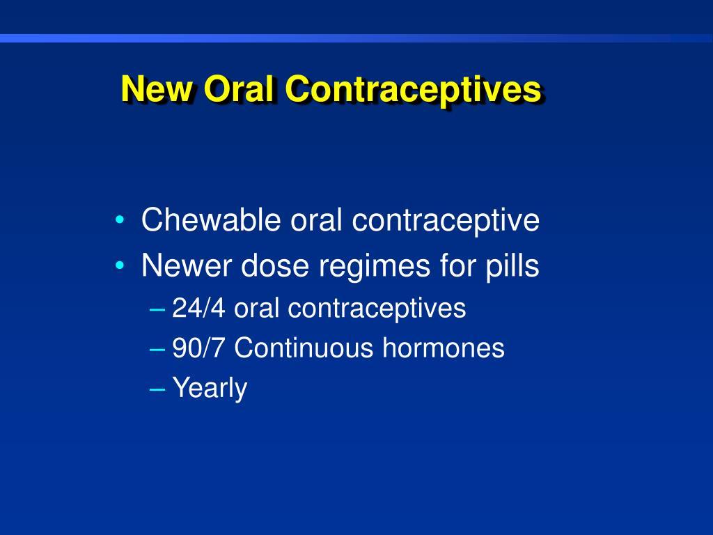 New Oral Contraceptives