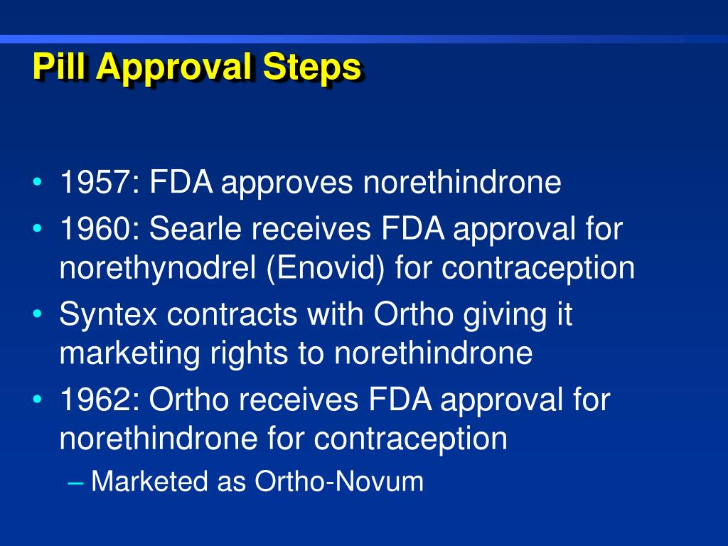 Pill Approval Steps