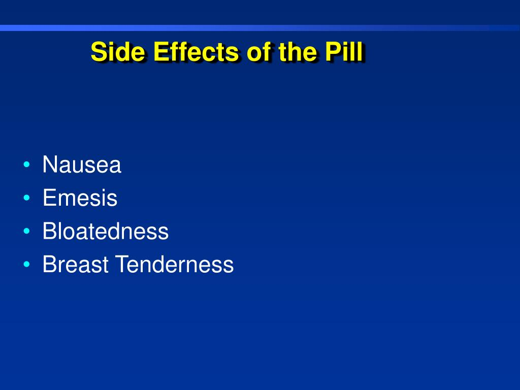 Side Effects of the Pill