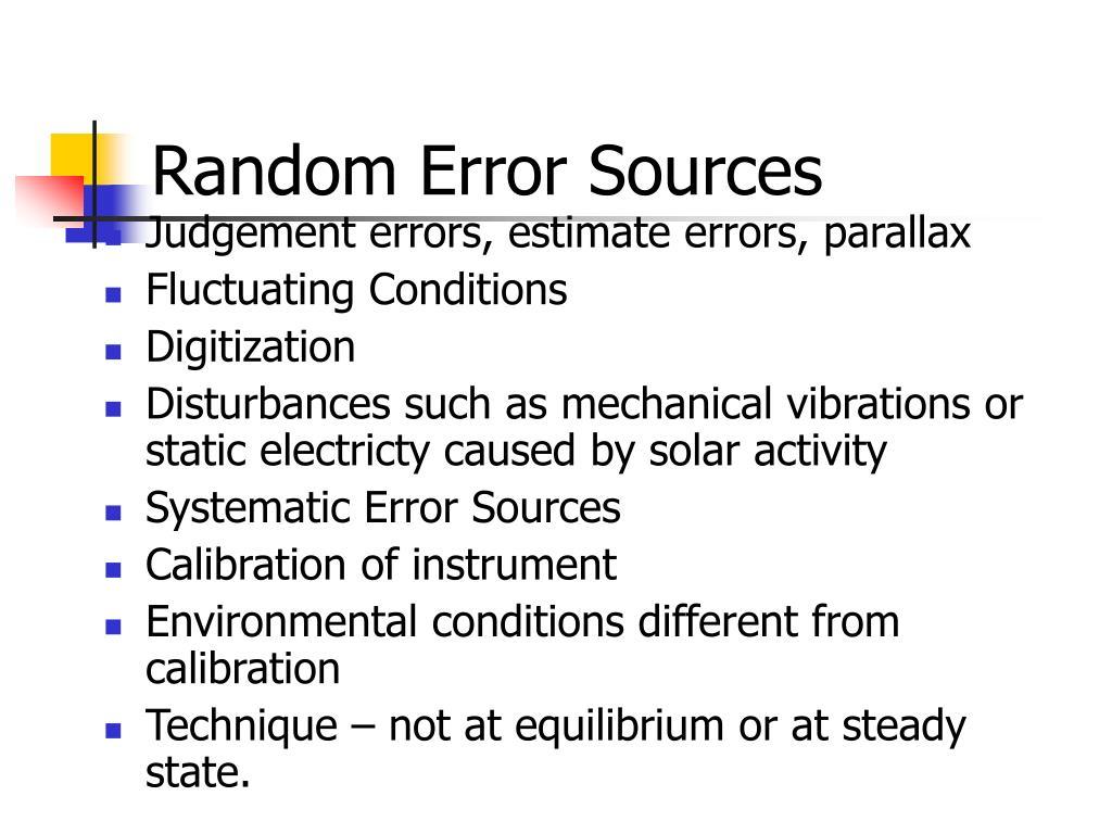 Random Error Sources