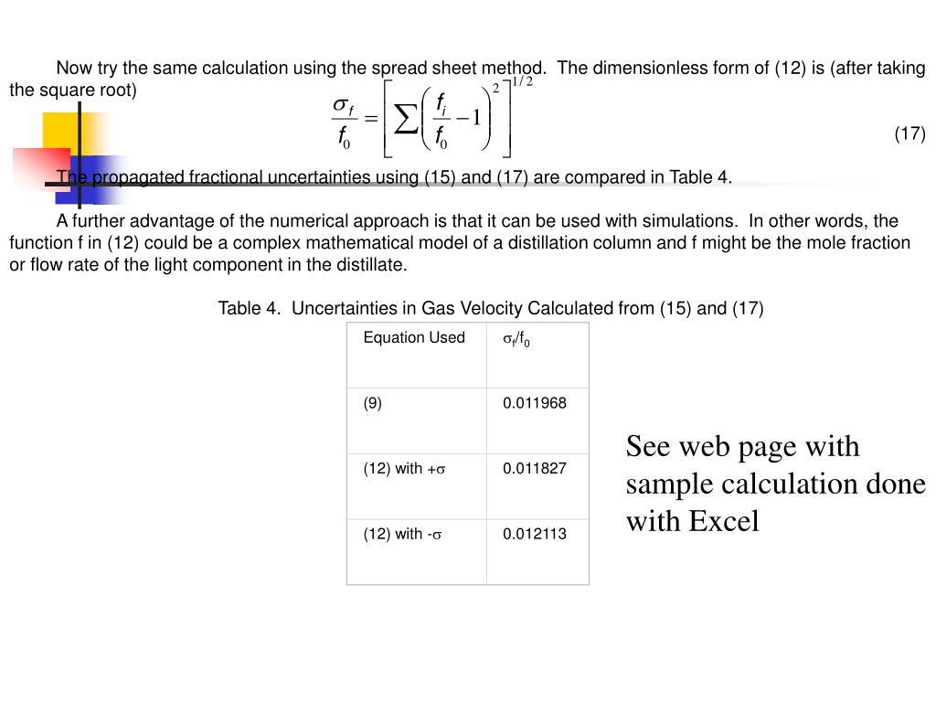 Equation Used