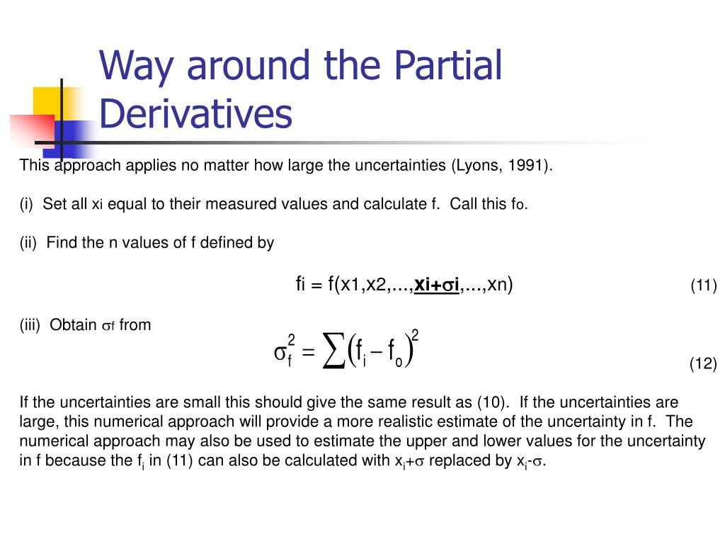 Way around the Partial Derivatives