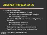 advance provision of ec