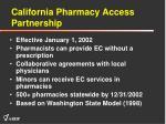 california pharmacy access partnership