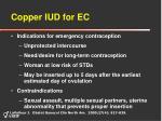 copper iud for ec39
