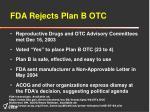 fda rejects plan b otc