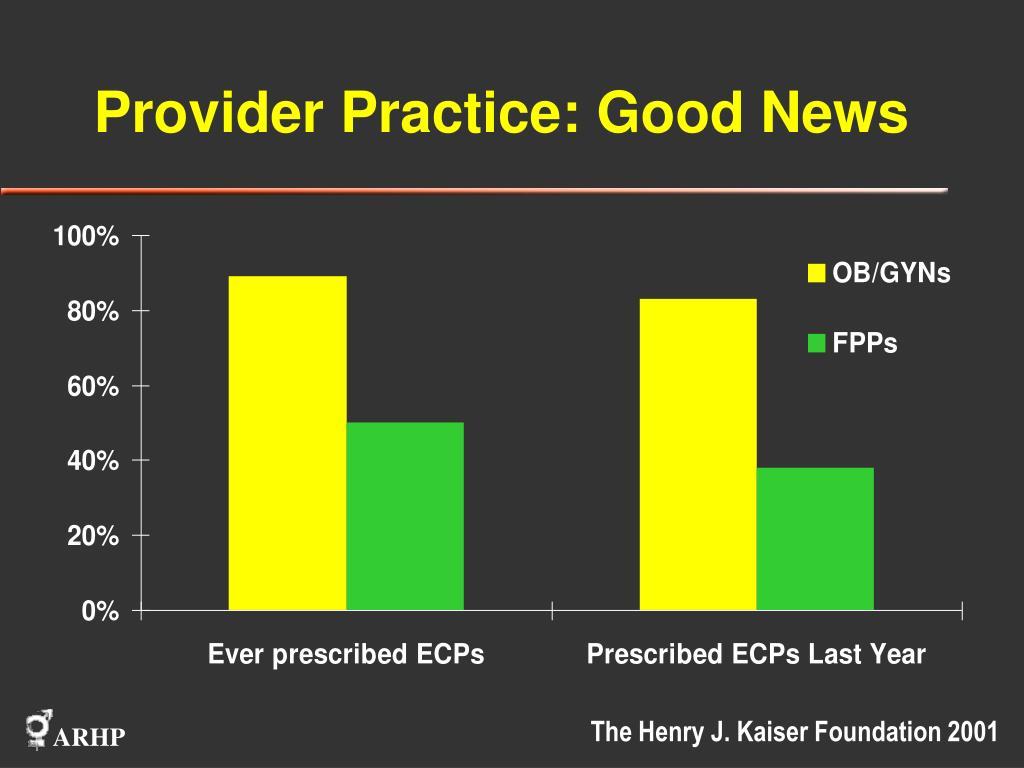 Provider Practice: Good News