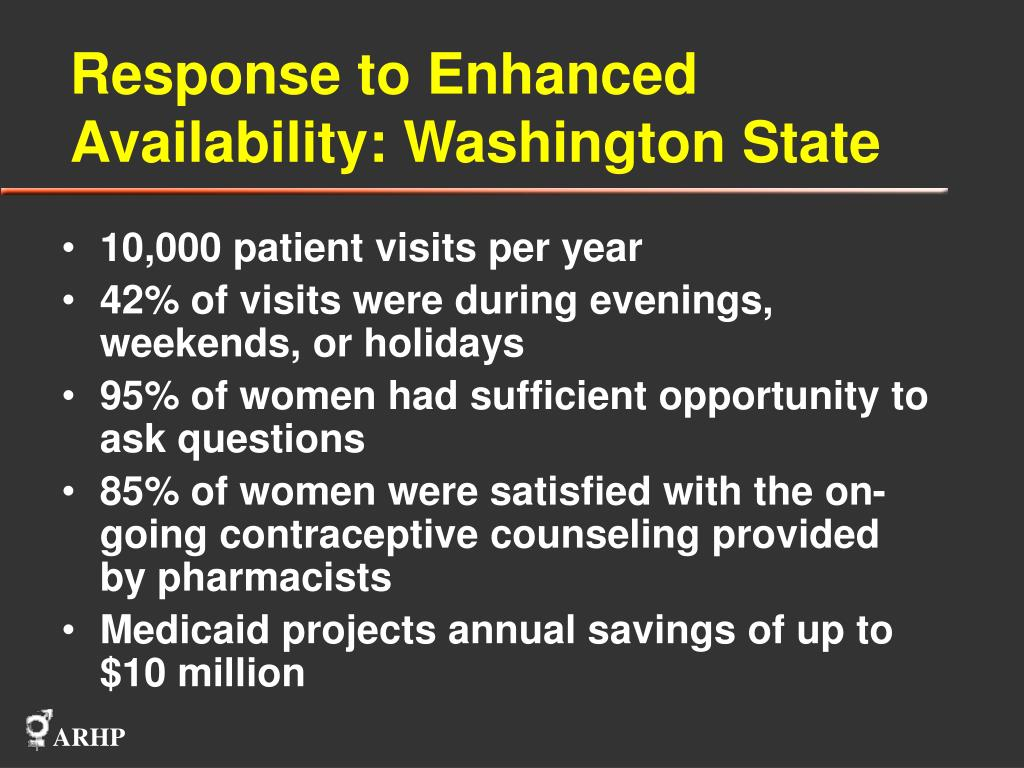 Response to Enhanced Availability: Washington State