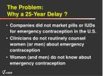 the problem why a 25 year delay