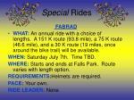special rides