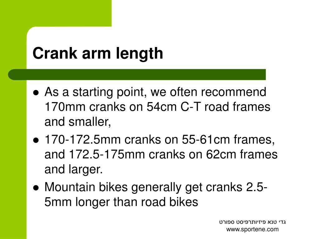 Crank arm length