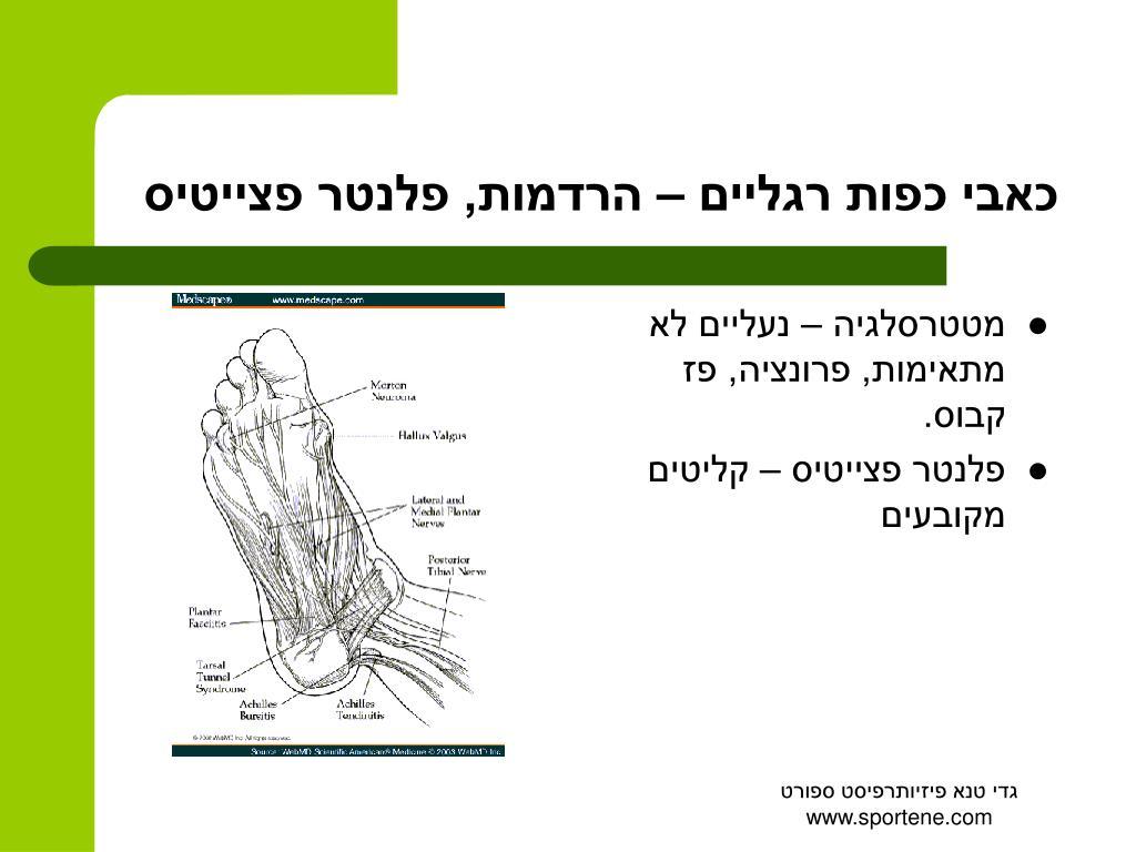 כאבי כפות רגליים – הרדמות, פלנטר פצייטיס