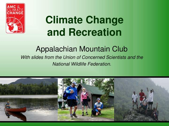 Climate change and recreation