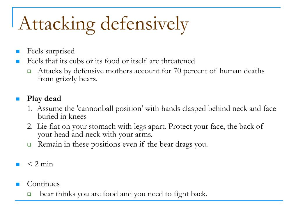 Attacking defensively
