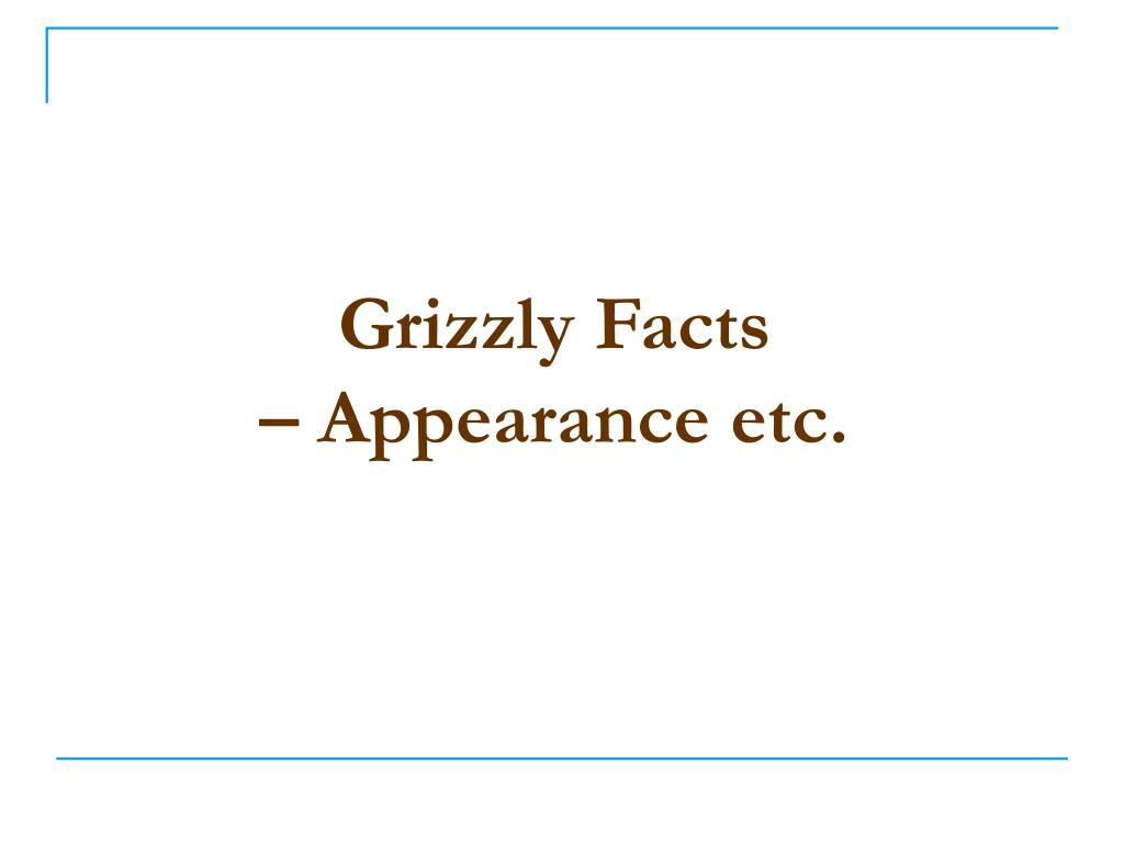Grizzly Facts
