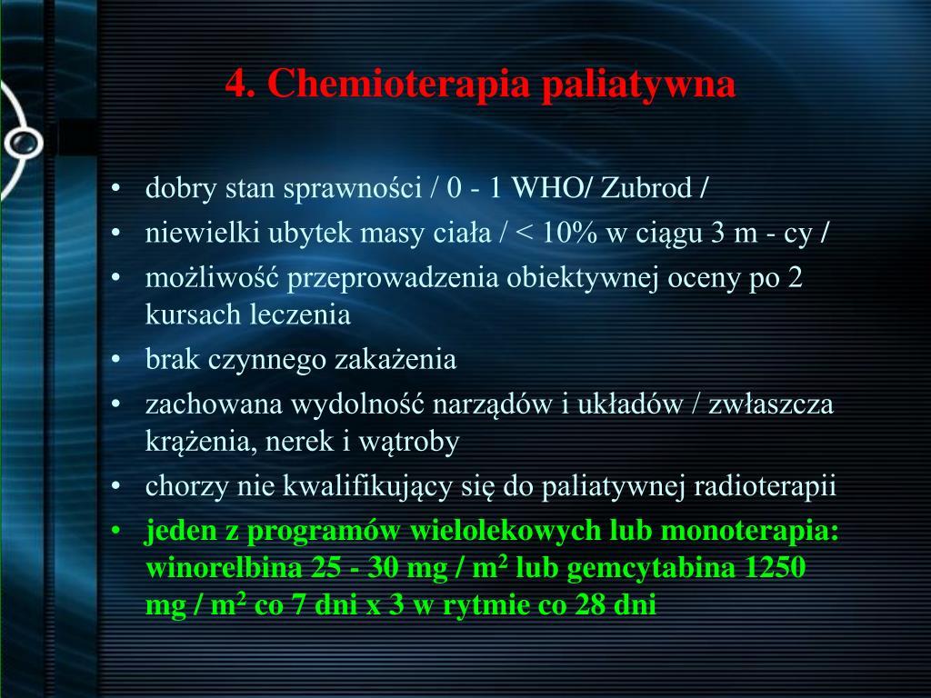 4. Chemioterapia paliatywna
