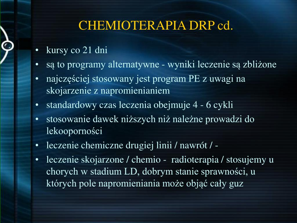 CHEMIOTERAPIA DRP cd.