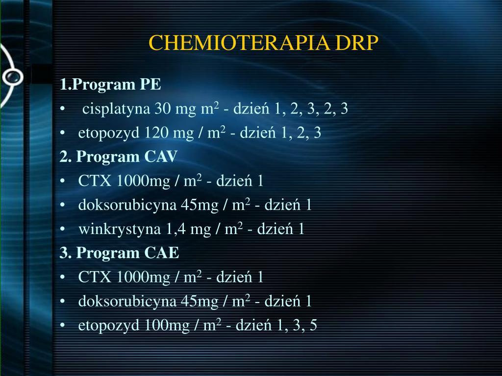 CHEMIOTERAPIA DRP