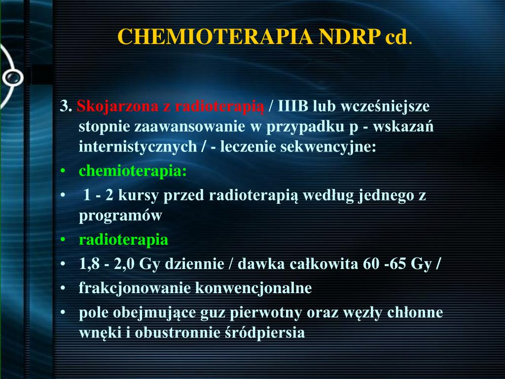 CHEMIOTERAPIA NDRP cd
