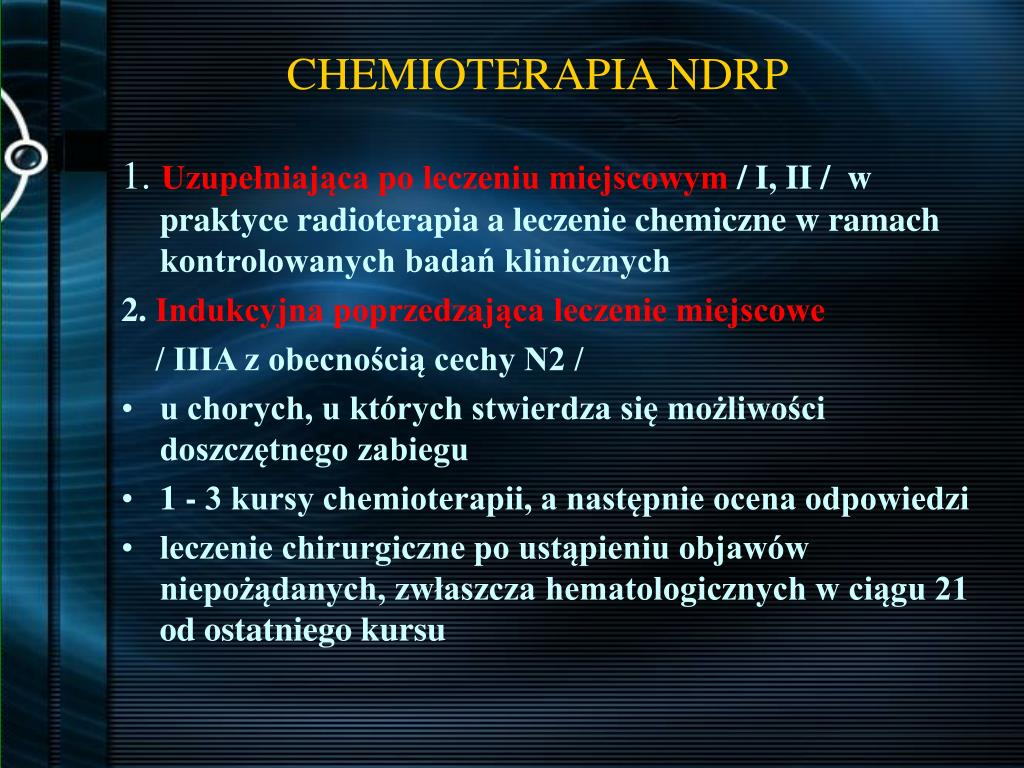 CHEMIOTERAPIA NDRP
